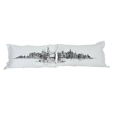 New York Skyline 2 Piece Pillowcase Set