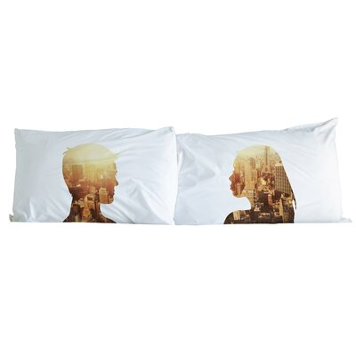 City Profiles 2 Piece Pillowcase Set Color: Multi