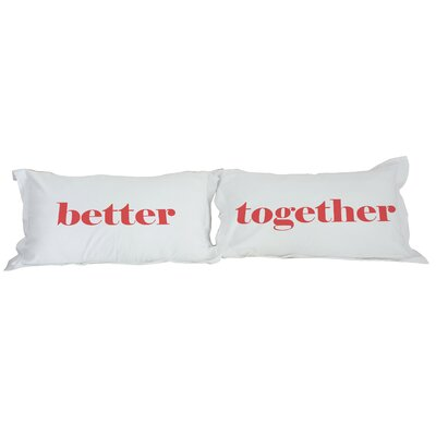 Better Together 2 Piece Pillowcase Set Color: Muti