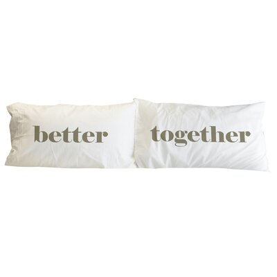 Better Together 2 Piece Pillowcase Set Color: Dried Herb