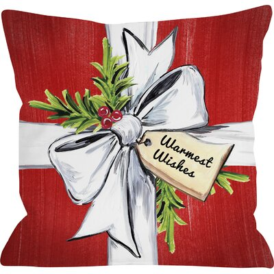 Warmest Wishes Line Throw Pillow