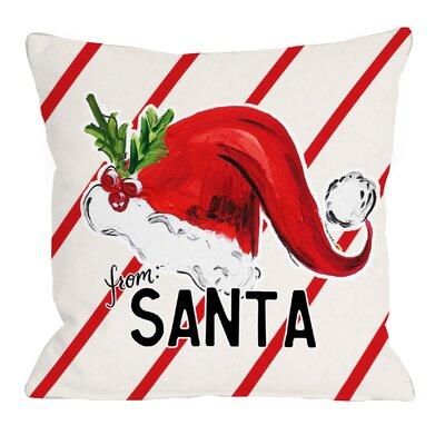 From Santa Linen Throw Pillow