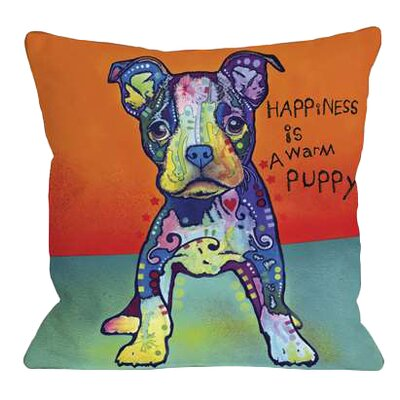 Doggy D�cor On My Own Throw Pillow Size: 18 H x 18 W