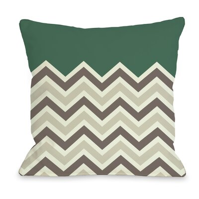 Chevron Throw Pillow Size: 26 H x 26 W, Color: Emerald