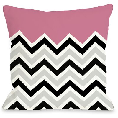 Chevron Throw Pillow Color: Pink, Size: 18 H x 18 W