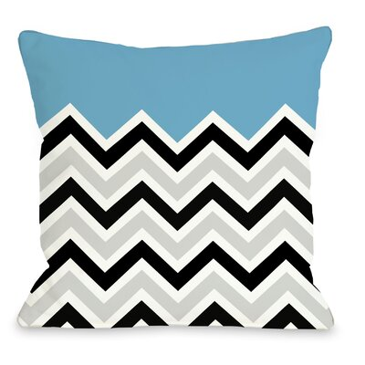 Chevron Throw Pillow Size: 16 H x 16 W, Color: Aqua