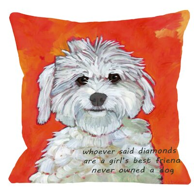 Doggy GirlS Best Friend Throw Pillow Size: 16 H x 16 W