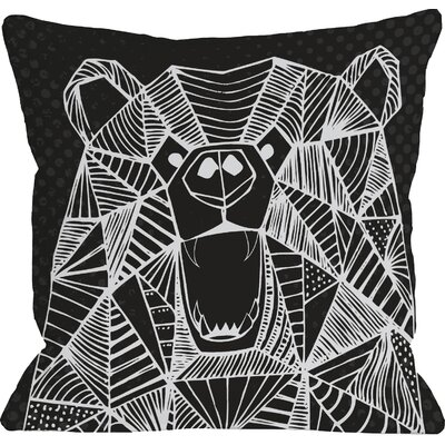 Geo Bear Throw Pillow Size: 18 H x 18 W, Color: Black