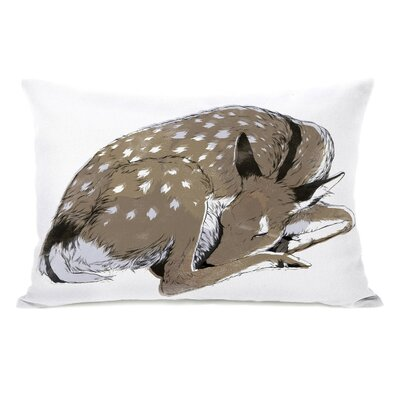 Sleeping Deer Lumbar Pillow