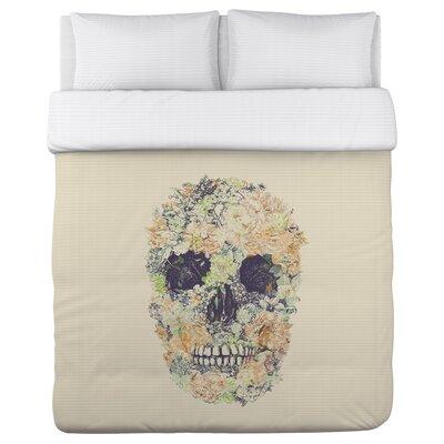 Dia Muertos Skull Flowers 2 Duvet Cover