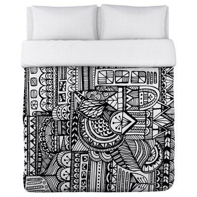 Laurel Fleece Duvet Cover Size: Full / Queen