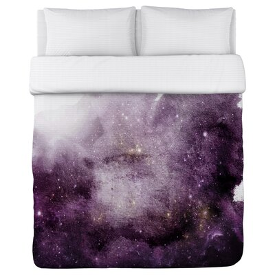 Galaxy Dreams Fleece Duvet Cover Size: Full / Queen