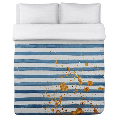 Gold Generator Fleece Duvet Cover Size: King