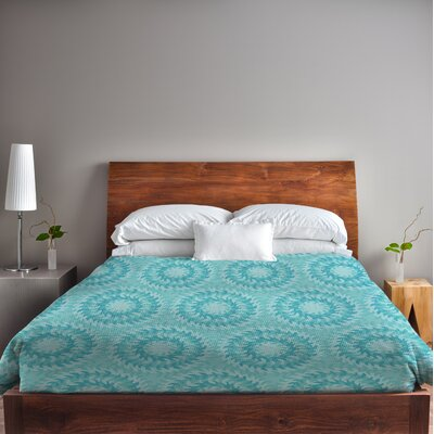 Swirls Duvet Cover Size: King