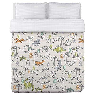 Baby Dinos Fleece Duvet Cover Size: King