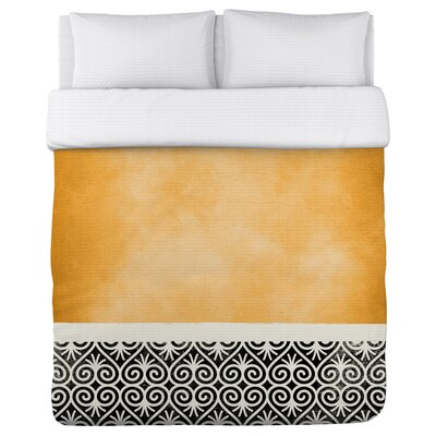 Kalli Fleece Duvet Cover Size: King, Color: Orange