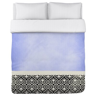 Kalli Fleece Duvet Cover Size: King, Color: Periwinkle