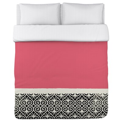 Kalli Fleece Duvet Cover Size: King, Color: Pink