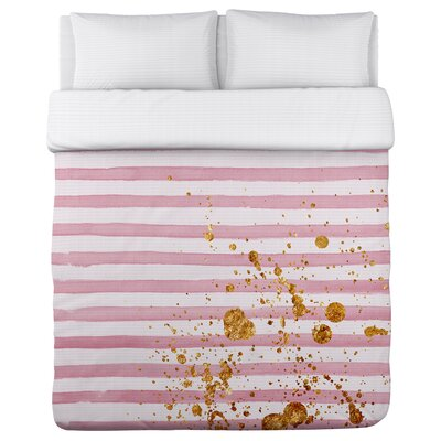Rosetea Fleece Duvet Cover Size: King