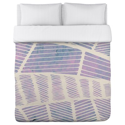 Sophie Fleece Duvet Cover Size: King, Color: Purple