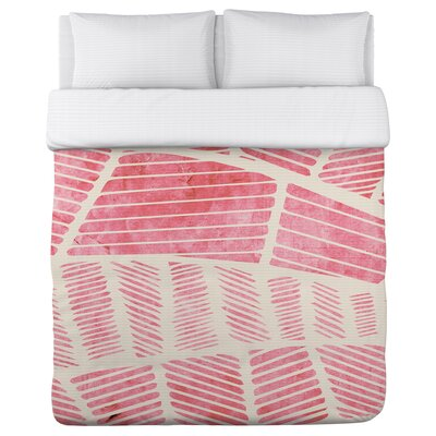 Sophie Fleece Duvet Cover Size: King, Color: Pink