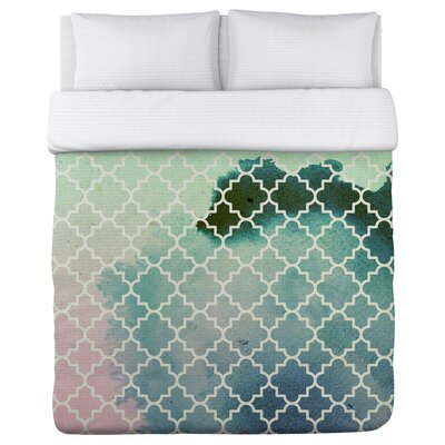 Splash Fleece Duvet Cover Size: Full / Queen