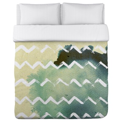Strippy Fleece Duvet Cover Size: King