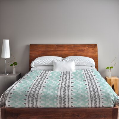Anya Stripes and Dots Lightweight Duvet Cover Set Size: Twin