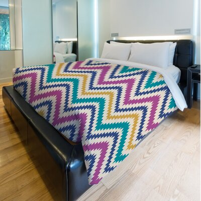 Bea Aztec Chevron Lightweight Duvet Cover Set Size: King