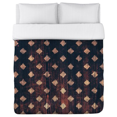 Scribble Scrabble Wood Fleece Duvet Cover Size: Full / Queen