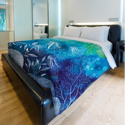 Sea Life Duvet Cover Size: Twin