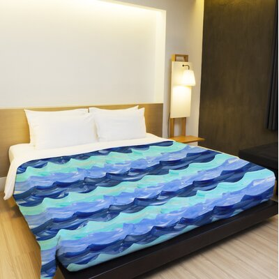 Water Waves Lightweight Duvet Cover Cover Size: Twin