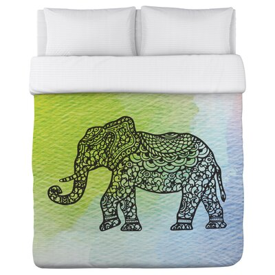 Dont Worry Elephant Duvet Cover