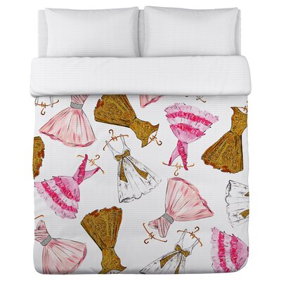 Pretty Girl Party Dresses Lightweight Duvet Cover Size: Full Queen