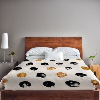 Goldadots Fleece Duvet Cover Size: King