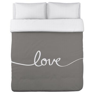 Love Mix & Match Duvet Cover Size: Twin