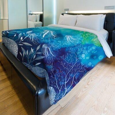 Sea Life Fleece Duvet Cover Size: King