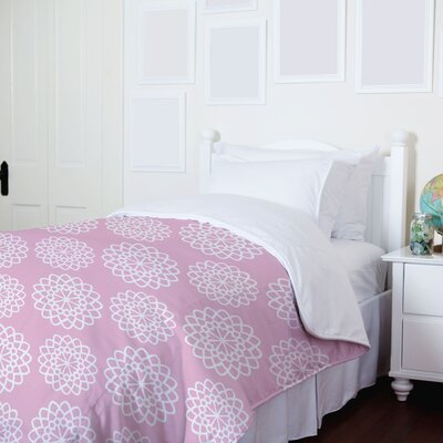 Missy Floral Fleece Duvet Cover Size: King