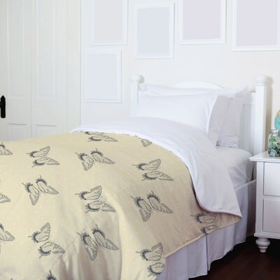 Free to Fly Sweet Butterfly Fleece Duvet Cover Size: King