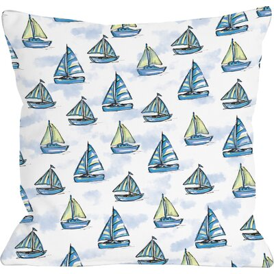 Sailboat Throw Pillow