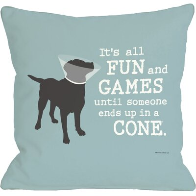 Doggy D�cor Its All Fun and Games Throw Pillow