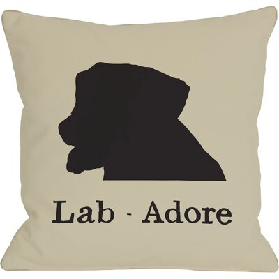 Doggy D�cor Lab Adore Throw Pillow