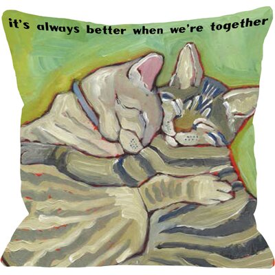 Doggy D�cor Better Together Throw Pillow