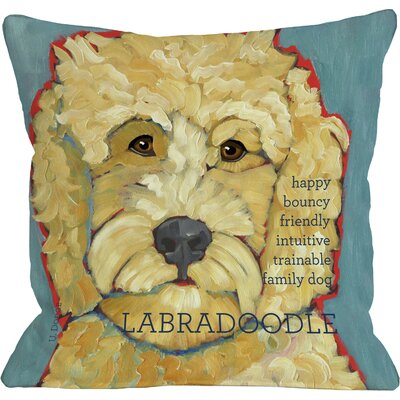 Doggy D�cor Labradoodle I Throw Pillow Size: 26 H x 26 W