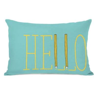 Pencil in Hello Fleece Lumbar Pillow