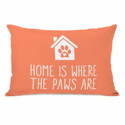 Home is Where the Paws are Fleece Lumbar Pillow