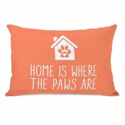 Home is Where the Paws are Fleece Lumbar Pillow