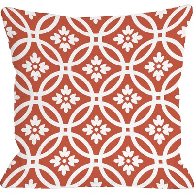 Meredith Circles Throw Pillow Size: 18 H x 18 W, Color: Tiger Lily Orange