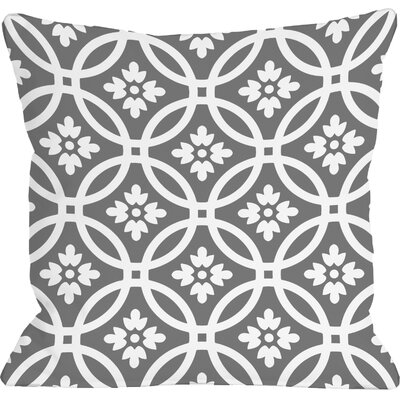 Meredith Circles Throw Pillow Size: 18 H x 18 W, Color: December Gray