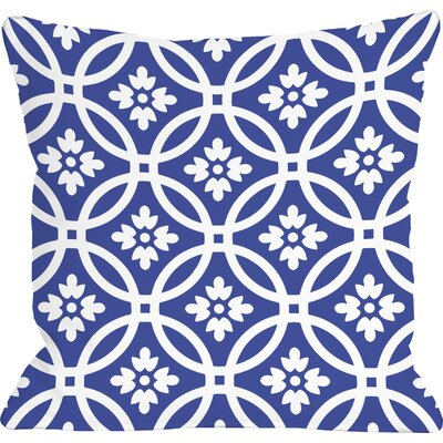 Meredith Circles Throw Pillow Size: 16 H x 16 W, Color: Dazzling Blue